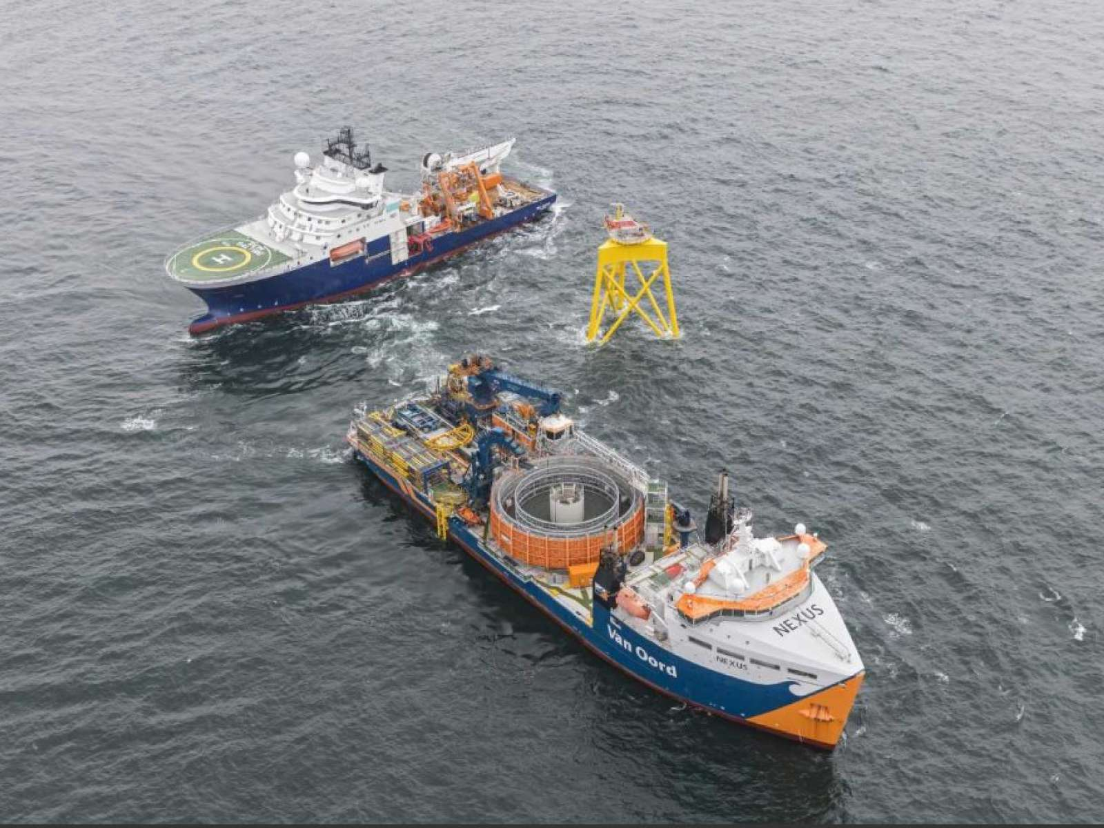 nCentric supplies wireless solutions for Van Oord's vessels on Borkum Riffgrund 2