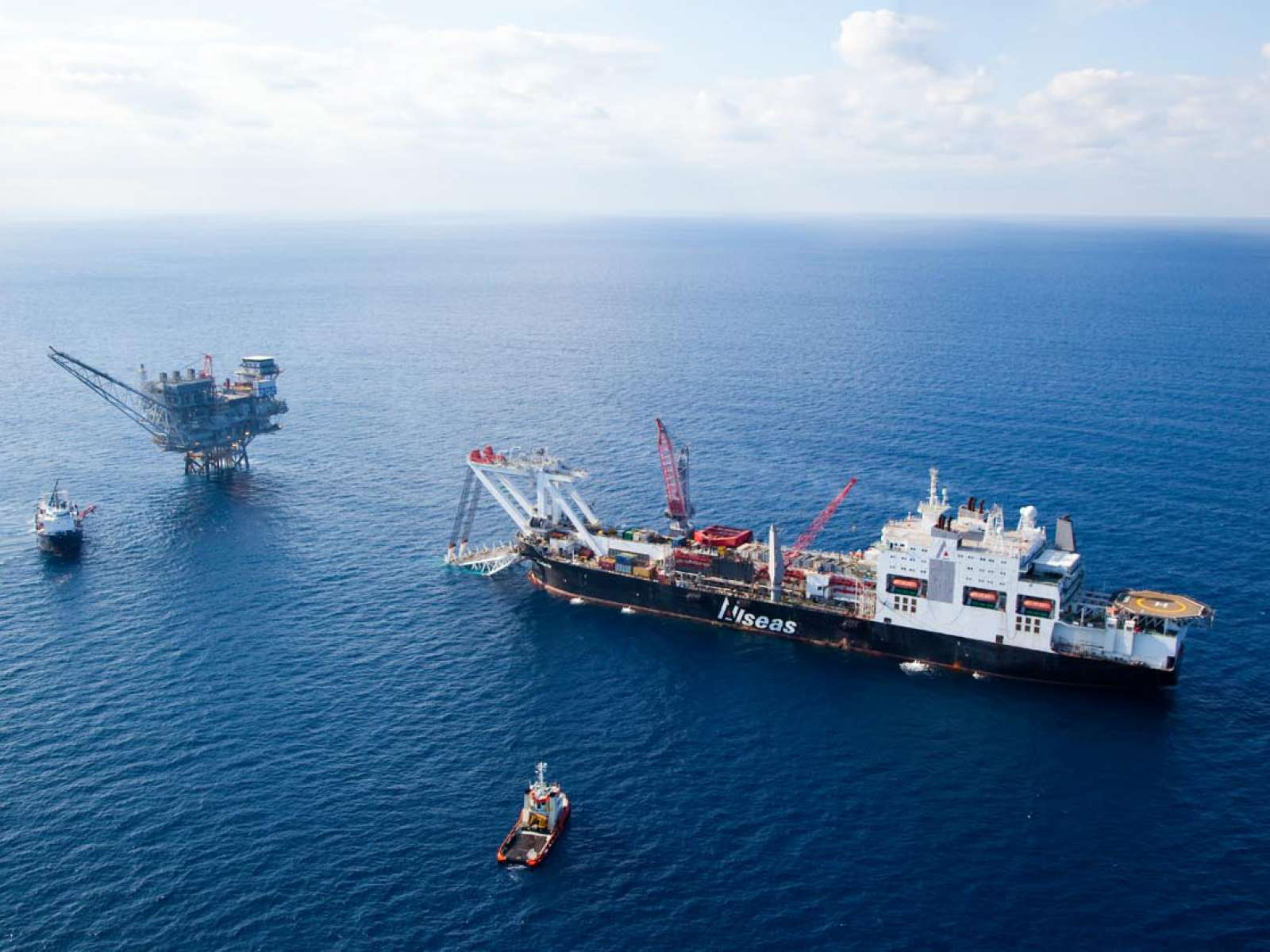 Allseas Pipelay and Support Vessels Videotel on Steroids